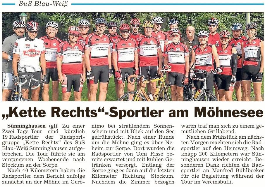 "SuS BW - Radsportler ""Kette Rechts"" unternahmen 2-Tage-Tour ..."