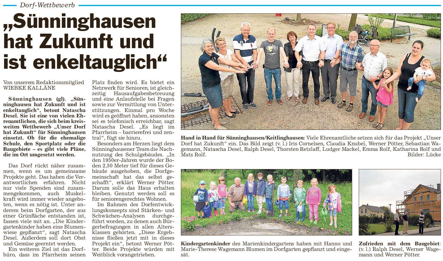 Sünninghausen hat Zukunft