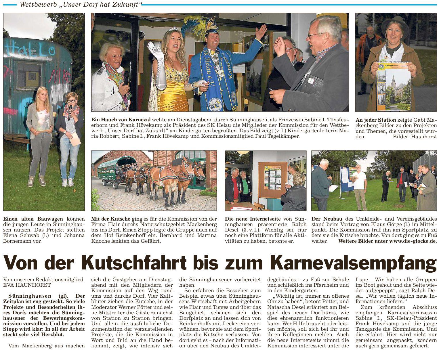 Umfangreiche Dorfbegehung in Sünninghausen