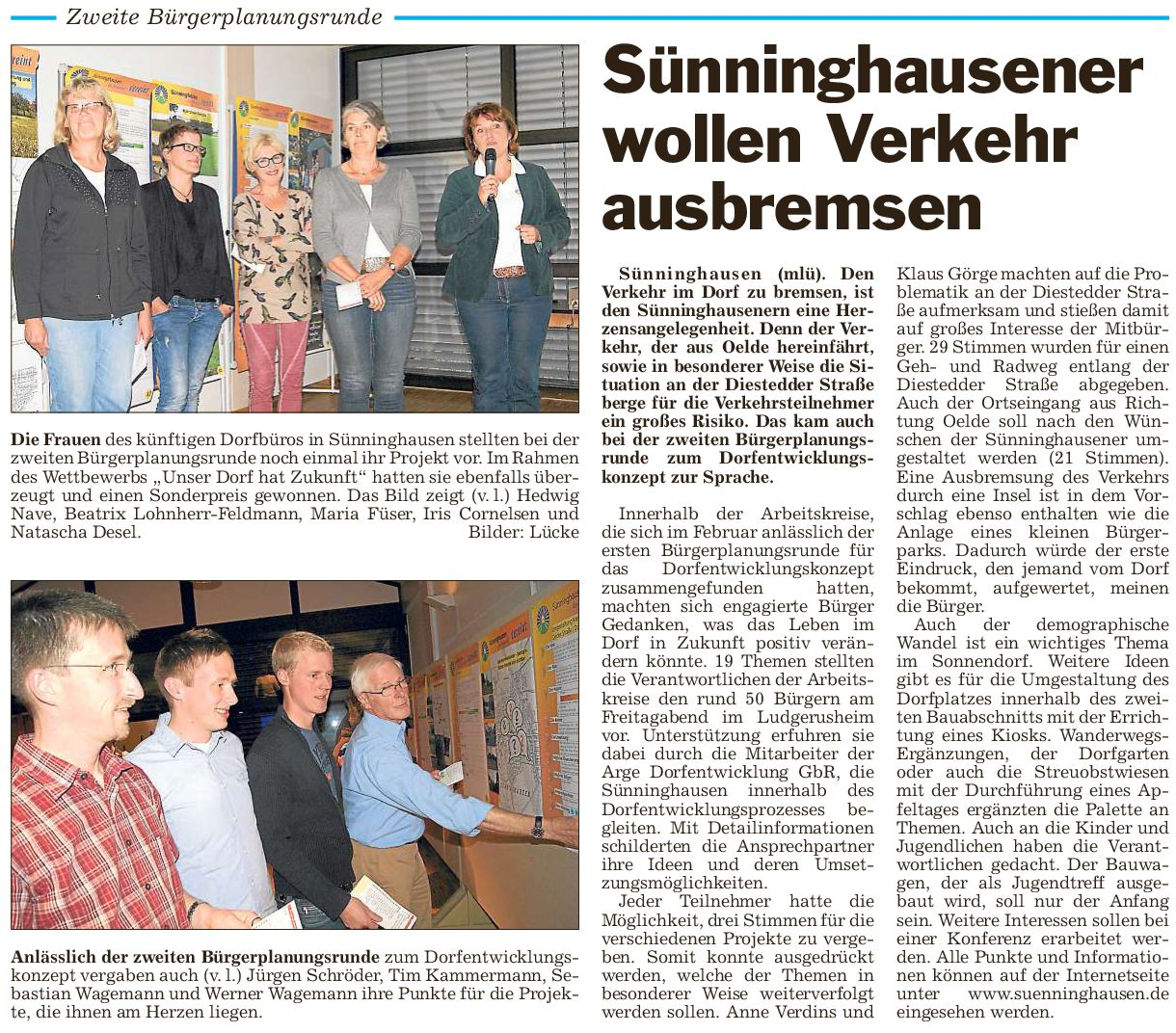 2. Bürgerplanungsrunde in Sünninghausen