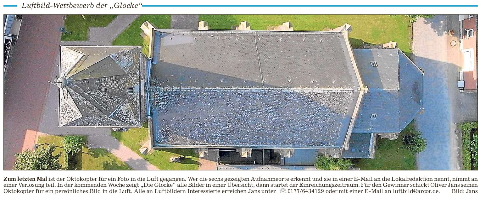 Luftaufnahme der Sünninghausener Kirche