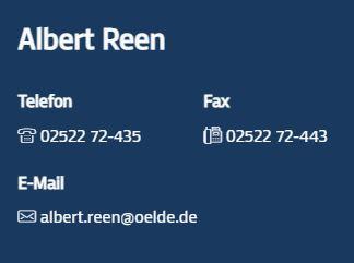 Kontaktdaten Albert Reen (Ansprechpartner der Stadt Oelde zum Thema Glasfaser)